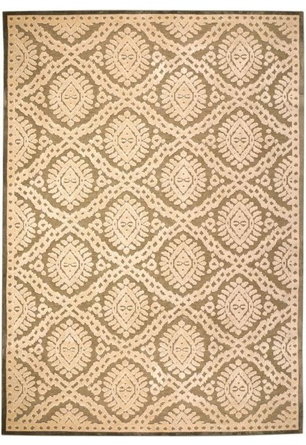 Martha stewart living exotic ikat area rug traditional for Martha stewart rugs home decorators
