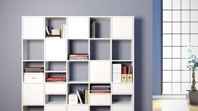 wei es regal f r stilbewusste modern b cherregale. Black Bedroom Furniture Sets. Home Design Ideas