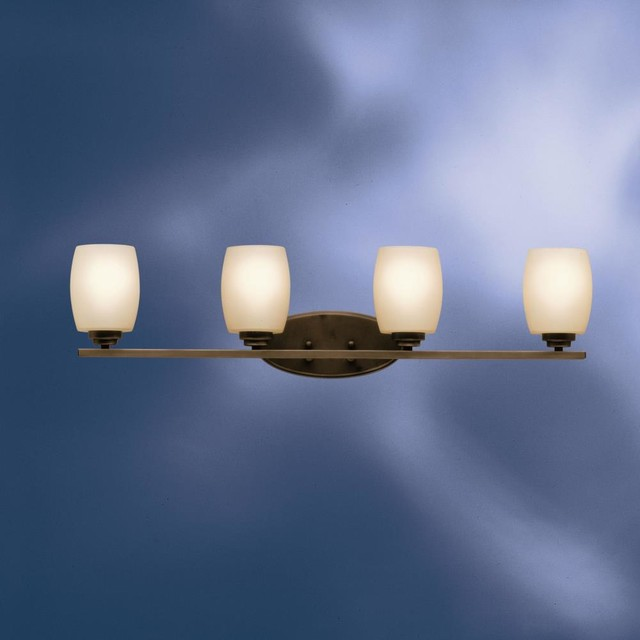 Kichler Lighting - 5099OZ - Eileen - Four Light Bath Fixture - Contemporary - Bathroom Vanity ...