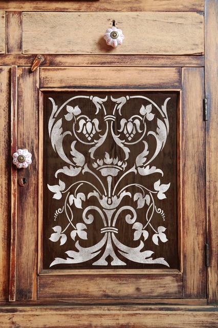 Firenze classic panel stencil   mediterraneo   stencil per pareti ...