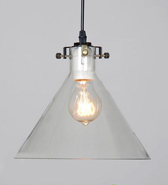 Glass pendant industrial lighting : Loft industrial glass pendant lighting contemporary