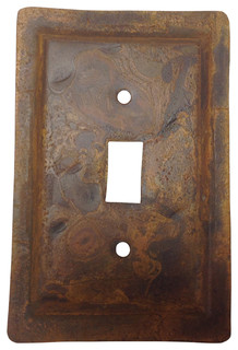 Rustic Tin Switch Plate Rounded Corners Single Switch