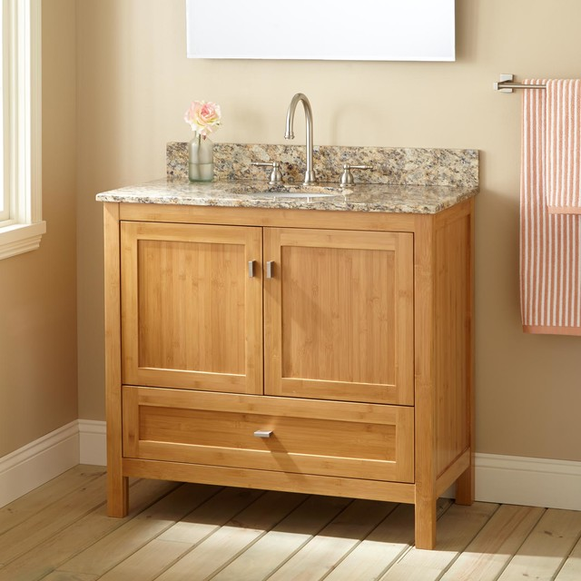 36 narrow depth alcott bamboo vanity for undermount sink - Narrow bathroom sinks and vanities ...