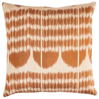 Brown Silk Ikat Cushion Cover Mediterranean Scatter
