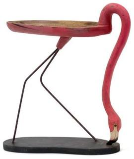 Restoration Warehouse Slurping Flamingo - Traditional - Side Tables ...