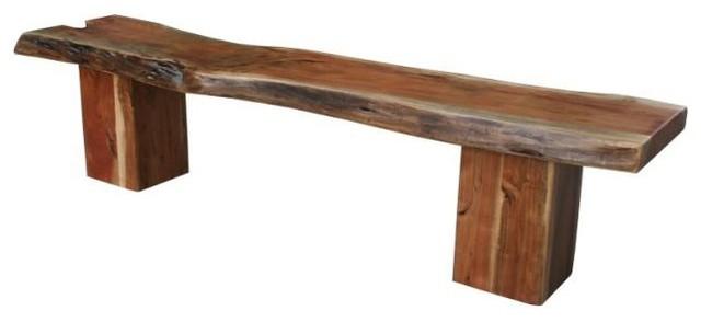 Western Wood Bench Rustic Indoor Benches