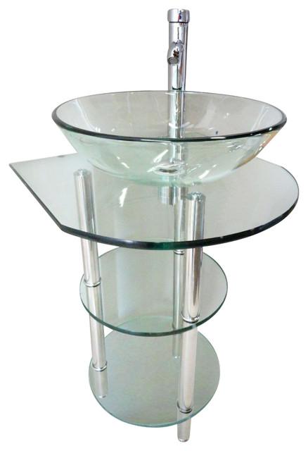 Vanities Pedestal Combo Faucet Contemporary Bathroom Vanities And Sink
