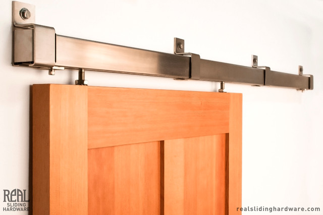 rail barn door hardware modern other metro by real carriage door