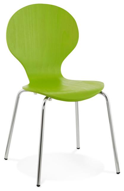 Chaise de cuisine BUZZ en bois vert  Contemporain  Chaise de Sall