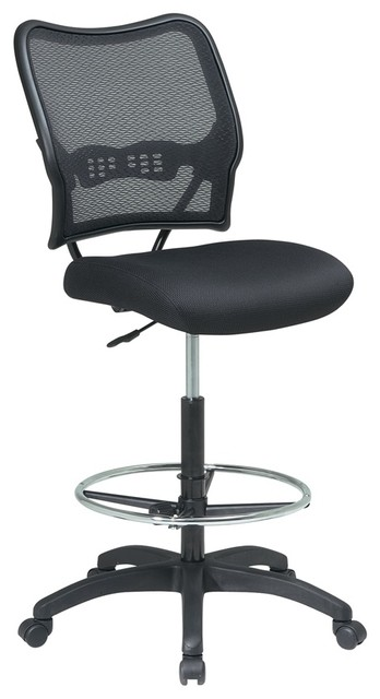 Deluxe Air Grid Back Drafting Chair Wit Mesh