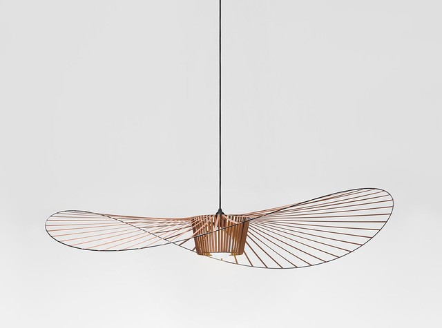 Suspension vertigo grand cuivre contemporain - Suspension luminaire en cuivre ...