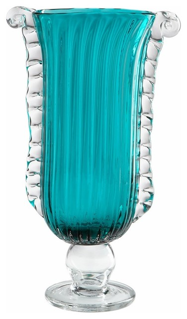Cyan design small copa contemporary table vase blue for Houzz pro account cost