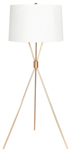 Modern Tripod Floor Lamp Gold Leaf Traditional Floor
