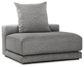 canap d 39 angle canap en tissu gris perle cloud el ment central contemporain fauteuil. Black Bedroom Furniture Sets. Home Design Ideas