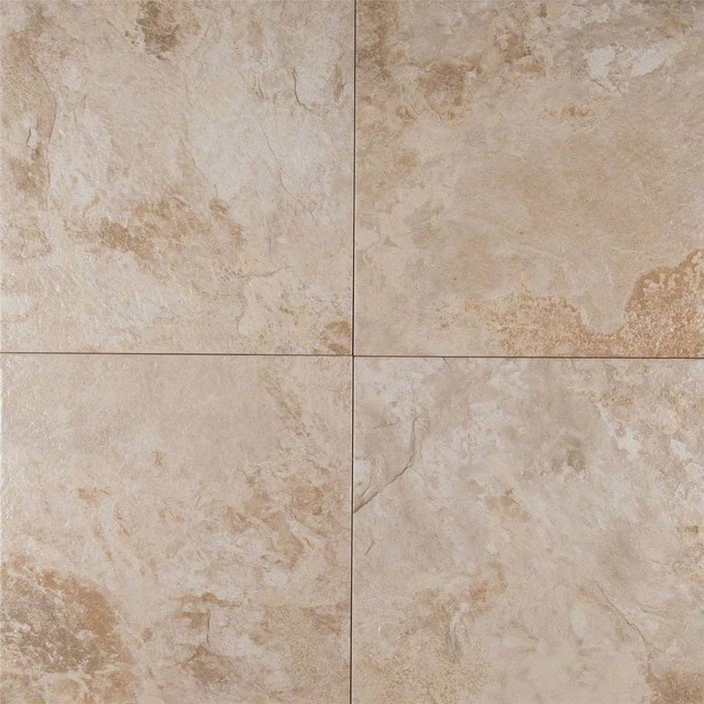Platino Matte Porcelain Tile Ivory 13x13 Contemporary
