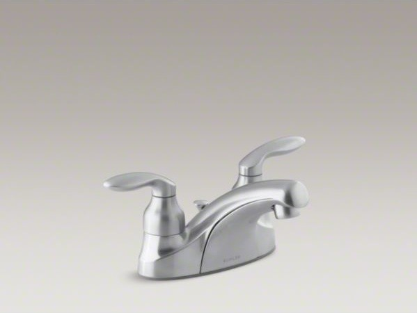 KOHLER Coralais R Centerset Bathroom Sink Faucet With Lever Handles And Pop