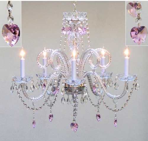 Gallery T40 414 5 Light 1 Tier Crystal Candle Style