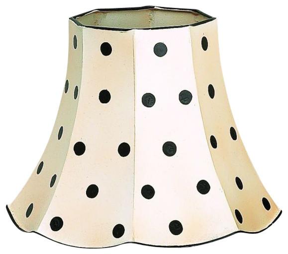 Black Polka Dot Lamp Shade Set Of 2 Transitional Lamp