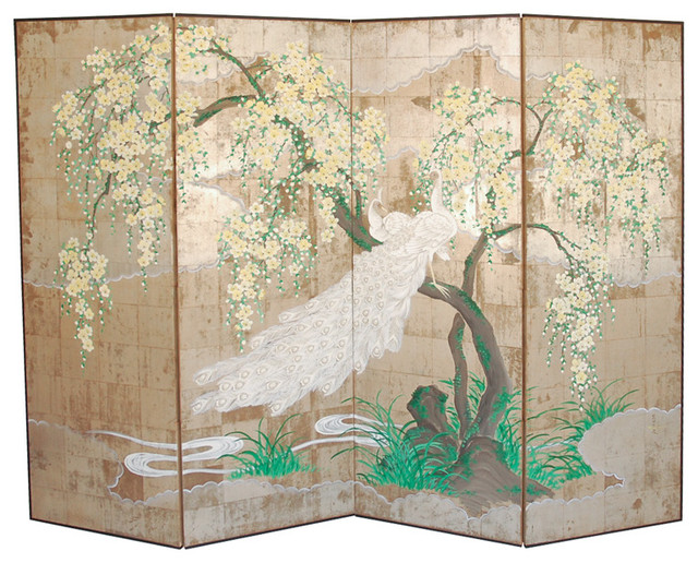 Four Panel Folding Screen Asian Screens And Room