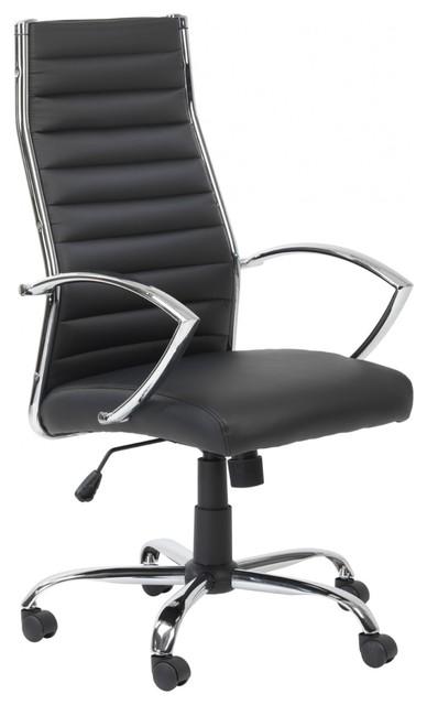 Premium Black Pu Executive Office Chair Contemporary