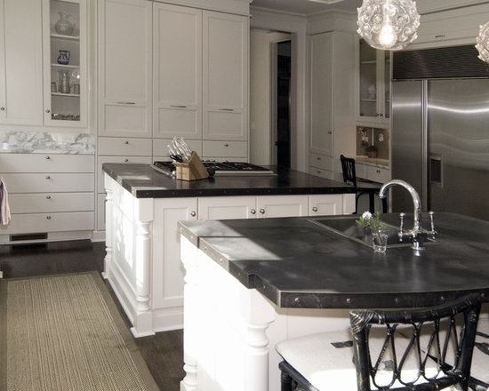 Traditional kitchen design ideas remodels photos with for Kitchen zinc design