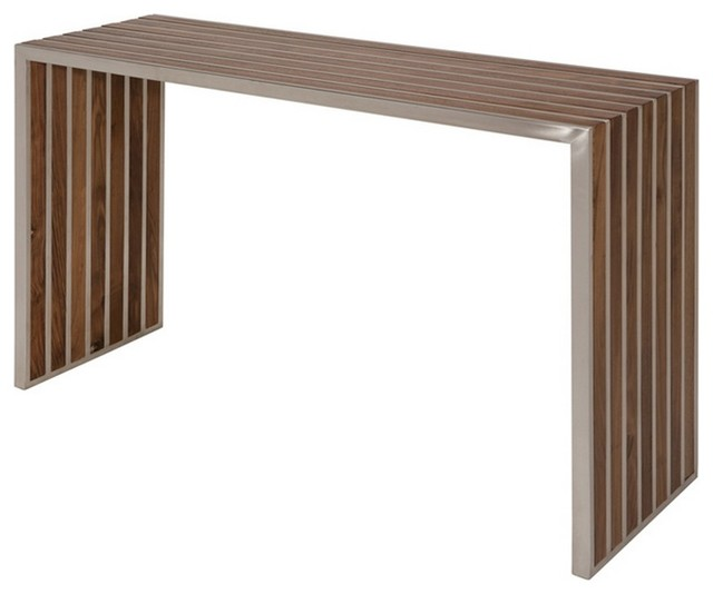 Large Console Table With American Walnut Spacers modern-console-tables