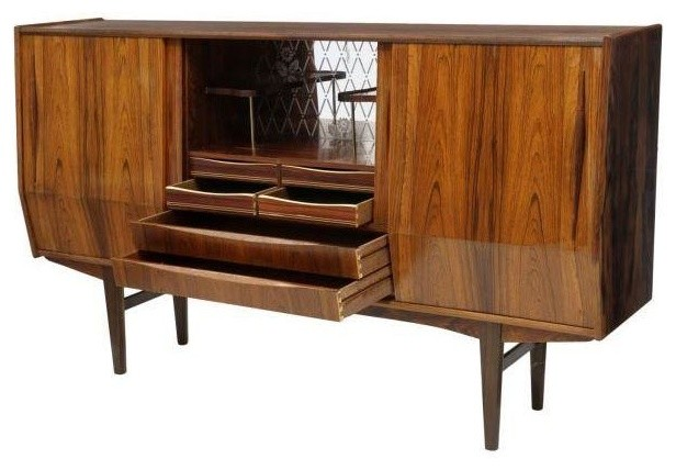Pre-owned Danish Mid-Century Rosewood Sideboard with Dry Bar - Midcentury - Buffets And ...