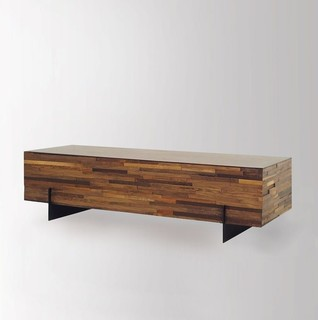 Landon Mixed Wood Rectangular Coffee Table Rustic