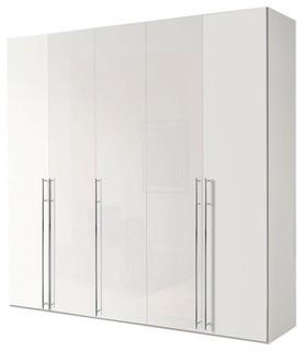 kleiderschrank murray iv 250x236 wei bauhaus look. Black Bedroom Furniture Sets. Home Design Ideas