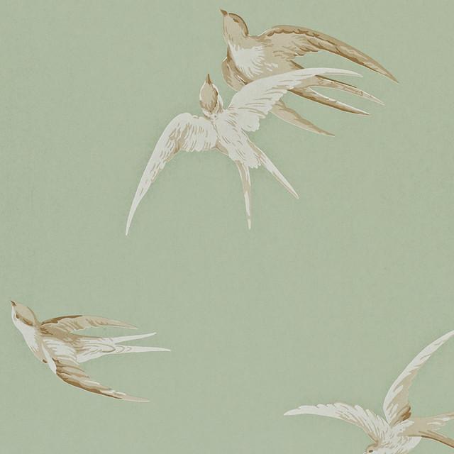 Sanderson Swallows Wallpaper Traditional