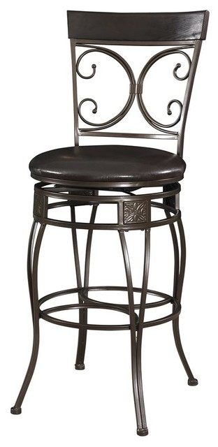 Big And Tall Back To Back Scroll Barstool Traditional