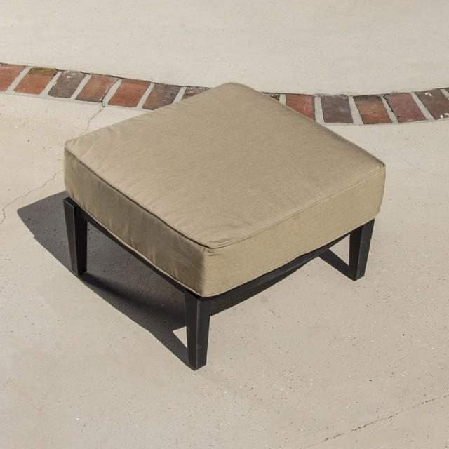 St Charles Cast Aluminum Patio Ottoman Modern Outdoor