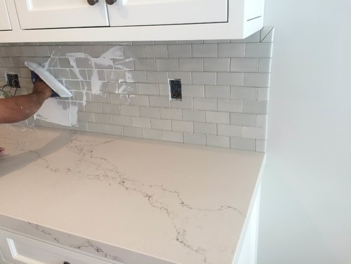help did i choose the wrong grout color for my backsplash