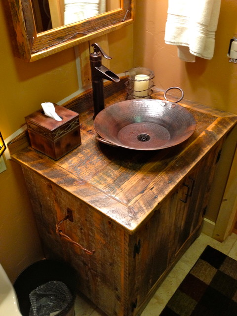 Rustic Sink : Rustic Furniture Portfolio rustic-bathroom-vanities-and-sink-consoles