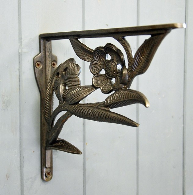 Art Deco Hanging Basket Brackets : Shelf brackets