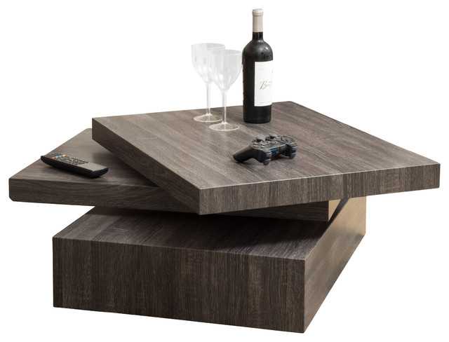 Haring square rotating coffee table contemporary coffee and accent tables by great deal Modern coffee and end tables