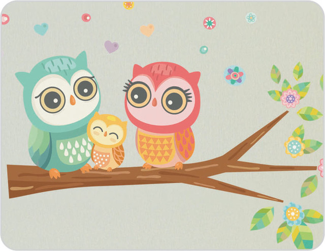 Owl Wall Stickers - Eclectic - Kids Wall Decor - sydney ...