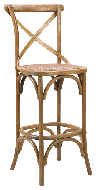Kasson french country light oak wood barstool - Traditional kitchen bar stools ...