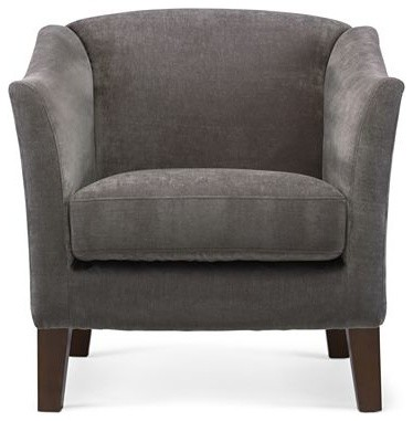 Melrose accent chair zinc contemporary armchairs for Jcpenney living room chairs
