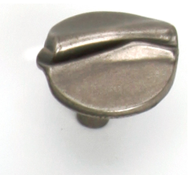 "1 3/8"" Garbow Knob - Antique Pewter - Contemporary - Cabinet And Drawer Handle Pulls - by Laurey"
