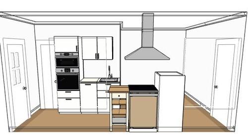 cuisine dans l 39 entr e comment am nager mon salon. Black Bedroom Furniture Sets. Home Design Ideas