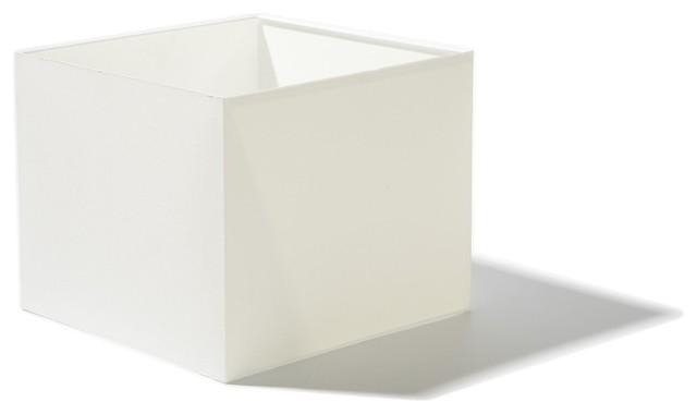 carr abat jour haut carr blanc de 25cm moderne abat. Black Bedroom Furniture Sets. Home Design Ideas