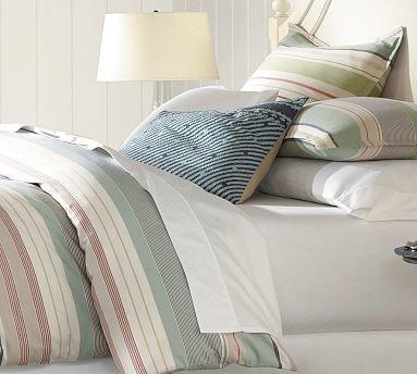 campbell stripe duvet cover king cal king multi traditional duvet covers and duvet sets. Black Bedroom Furniture Sets. Home Design Ideas