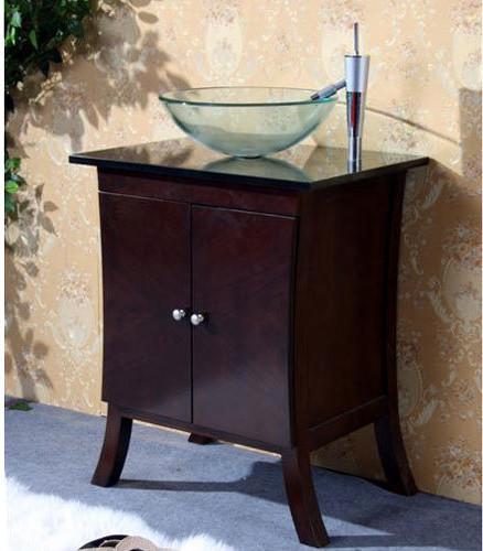 legion furniture 24 inch vanity with tempered glass vessel sink traditional bathroom. Black Bedroom Furniture Sets. Home Design Ideas