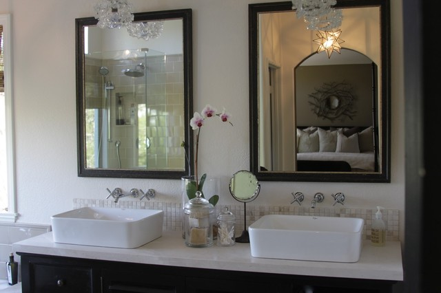 Master bath eclectic orange county by greige fluegge interior design inc for Bathroom mirrors orange county