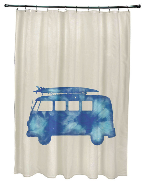 71x74 Beachdrive Geometric Print Shower Curtain Contemporary Shower Curtains By E By Design