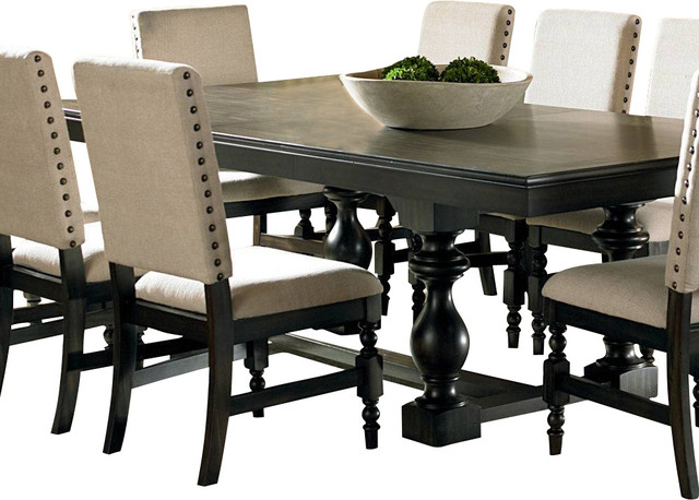 Rectangular Dining Table In Black Rectangle Dining Table For 8