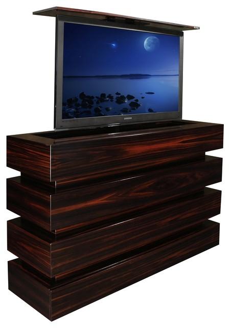 US Made Le Bloc hidden TV lift cabinet has 10 year warranty - Modern - Media Cabinets - san ...