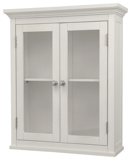 Madison Avenue Apothecary Cabinet in White w 2 Doors - Contemporary - Medicine Cabinets - by ...