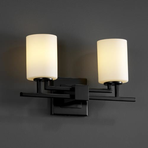 Black Bath Vanity Lights : Fusion Aero Two-Light Matte Black Bath Fixture - Contemporary - Bathroom Vanity Lighting - by ...